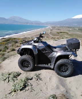 Discover the South Crete with scooter or a quad-ATV